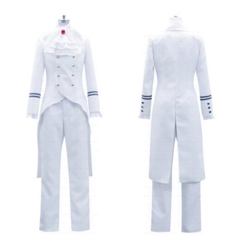 コスプレ衣装コスチューム黒執事 ドルイット子爵アレイスト・チェンバー風白制服コスプレ衣装