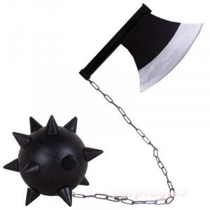 鬼滅の刃 悲鳴嶼行冥 日輪刀 手斧と鉄球 コスプレ道具 岩柱