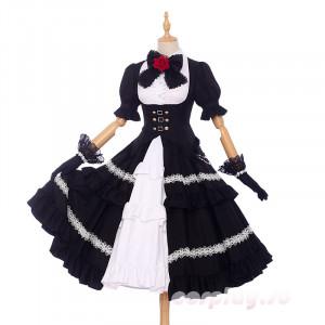 「デート・ア・ライブ」 DATE A LIVE  時崎狂三  メイド服 コスプレ衣装 スカートハロウィン クリスマス
