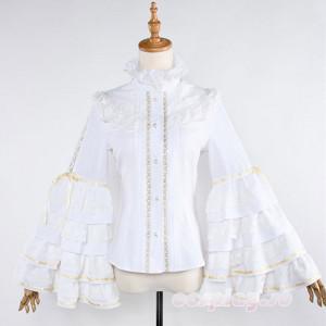 刀剣乱舞 同人洋装セット シャツ ロリータ風 長袖 姫袖 シャツ トップス