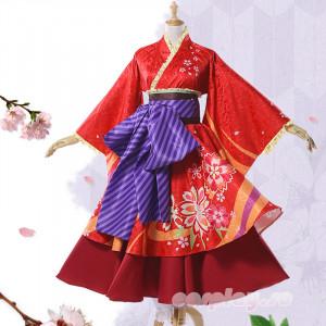 銀魂 神楽 かぐら 掛け軸 神楽着物 桜柄 浴衣 コスプレ衣装