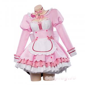 ネコぱら チョコレート 香子蘭 ピンク メード服 コスプレ衣装 コスチューム