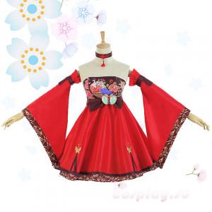 VOCALOIDボーカロイド 巡音ルカ LUKA 極楽浄土 和風 コスプレ衣装