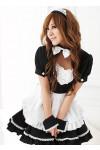 リボンが可愛いメイド服コスプレ ゴスロリ コスチューム 衣装 イベント