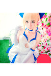 『Fate/Zero』(フェイトゼロ) Fate/stay night (フェイトステイナイト) セイバー(Saber) ドレス コスプレ衣装  セイバーウィッグ
