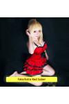 【Fate】Fate / Extra CCC 赤セイバー ネロ ワンピース 運命の夜傘セバ コスチューム コスプレ衣装 スカート 「真紅の現代衣装」