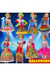 2016ハロウィン・Halloweenキャンディピエロ ハロウィン 仮装 衣装 コスプレ コスチューム 大人用 ピエロ服 クリスマス コスプレイベント用品レディース コスプレ衣装