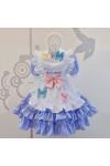 メイド服 可愛い 蝶結び 荷葉裾 セット