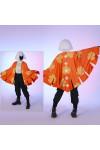 Sky 星を紡ぐ子どもたち 楽園の季節 蝶々の羽を模したケープ オレンジ色の柄ものケープ