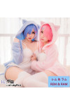 『Re:ゼロから始める異世界生活 』(リゼロ) ラム&レム 猫嬢 ネコ嬢 コスプレ衣装 日常服 パジャマ