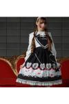 ハート&プードル柄 ハートジャンパースカート  ゴスロリロリータパンクコスプレコスチュームメイド衣装