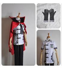 ファイナルファンタジー零式 朱雀領ルブルム 0組 マキナ・クナギリ (Machina Kunagiri) 男子夏服 コスプレ衣装