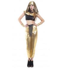 エジプトの女王 ゴールド お姫様コス衣装 クレオパトラ ハロウィンコスチューム