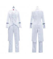 コスプレ衣装 コスチューム 黒執事  ドルイット子爵アレイスト・チェンバー風 白  制服 コスプレ衣装