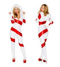 新品アメリカ風 女性 クリスマスコスチューム 長袖 4点セット クリスマスコスプレ衣装