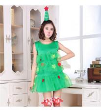 クリスマスドレス クリスマスツリー ノースリーブ コスチューム パーティー イベント 女子会 コスチューム