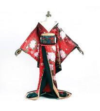 デート・ア・ライブ 時崎狂三 艶姿 コスプレ衣装 和風 着物