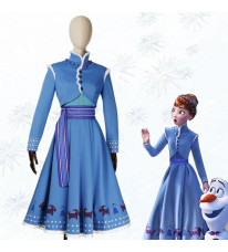 Disney ディズニー コスプレ衣装 アナと雪の女王2 Frozen 2 アナ ブルー