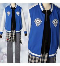 ヒプノシスマイク -Division Rap Battle- 山田 二郎 コスプレ衣装 青色ジャケット