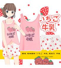 既製品!銀魂 坂田銀時 いちご 牛乳 寝巻き 平服 可能 女の子 可愛いパジャマ