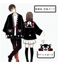 既製品!くまモン kumamon 和風コート カップル衣装 クマプリントコスプレ衣装