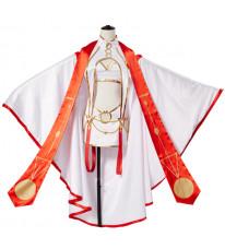 フェイト/グランドオーダーFate/grand order saber アイリスフィール (天の衣〕コスプレ衣装