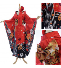 Fate/extella フェイト/エクステラ 掛け軸 セイバー Saber バラ柄 和服 イベント 着物