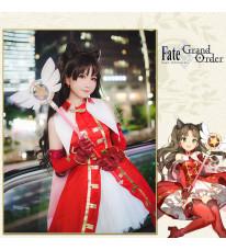 【在庫商品】Fate/Grand Order FGO 遠坂凛 赤宝石 ルビー 魔法 礼服 コスプレ衣装
