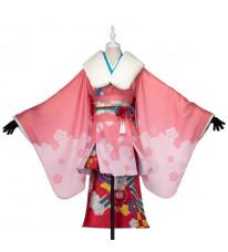 【FGO】Fate/Grand Order  新年のご挨拶 ジャンヌ・ダルク・オルタ・サンタ・リリィ コスプレ 衣装 着物 FGO コスプレ