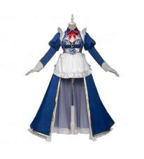 Fate Grand Order FGO アルトリア・ペンドラゴン メイド コスプレ衣装 青い