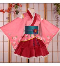 銀魂華祭り 2017年 神楽 着物+スカート 夏祭り 花火大会 花見 コスプレ 和服