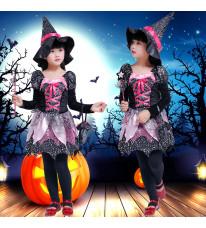 ハロウィン 子供 巫女服 仮装イベント 魔法巫女コスプレ衣装