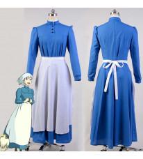 ハウルの動く城 ソフィー ロングメイド服 ブルー メイド服