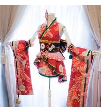 アイドルマスター シンデレラガールズ スターライトステージ SSR 小早川紗枝 こばやかわさえ 着物 振袖 ミニ丈 着物風ステージ衣装