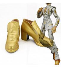 ジョジョの奇妙な冒険 黄金の風 ブローノ・ブチャラティ 靴 PU革 コスプレ靴