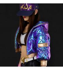 League of Legends lol リーグ・オブ・レジェンド アカリakali 紫色 日常風 コスプレ衣装