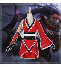 League of Legends lol リーグ・オブ・レジェンド ダイアナ diana 赤色 和風 コスプレ衣装 着物