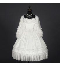 クラロリ 洋装 白色ドレス フリル ジャンスカ
