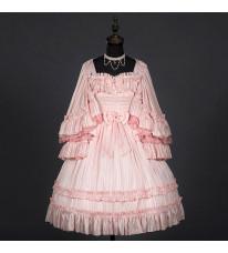 クラロリ 洋装 ピンクドレス フリル ジャンスカ