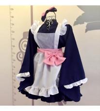 2017新品 豪華 メイド服 5点セット 和風メイド服