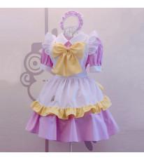 メイド服 可愛い 荷葉フリル 4点セット スカート コスプレ衣装