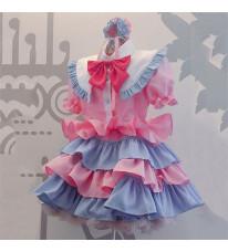 メイド服 ピンク 可愛い 荷葉フリル スカート コスプレ衣装