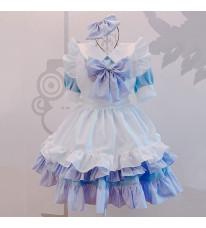 クリスマス メイド服 可愛い 萌え 荷葉裾 セット