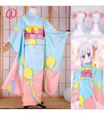 小林さんちのメイドラゴン カンナカムイ カンナ 浴衣 着物 祭り用 コスプレ衣装