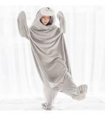 アザラシ ブランケット 着る毛布  ルームウェア