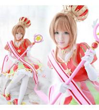 カードキャプターさくら 木之本桜 GSC 15周年 コスプレ衣装 イベント バッテリーコスプレ衣装