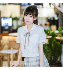 既製品!Jk制服 短袖 女子 制服 シャツ 日常風 クラッシク 3色選択可能