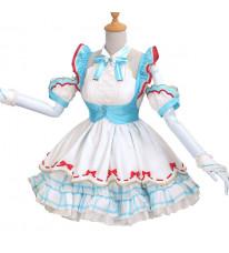 ボーカロイド VOCALOID 初音ミク ミクチャン 不思議の国のアリス 空色 スカート コスプレ衣装 コスチューム