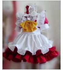 送料無料 メイド服セット コスプレ メイド コスプレ衣装 ウェイトレス