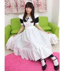 ロングエプロン コスプレ ロング丈 メイド服 高品質コスプレ衣装